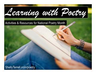 Learning with Poetry: Activities and Resources