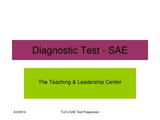 Diagnostic Test - SAE