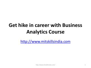 Get hike in career with Business Analytics Course