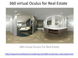 360 virtual Oculus for Real Estate
