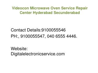Videocon Microwave Oven Service Repair Center Hyderabad Secunderabad
