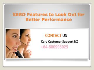 XERO features to look out for better performance