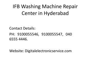 Ifb washing machine repair center in hyderabad
