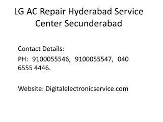 Lg ac repair hyderabad service center secunderabad