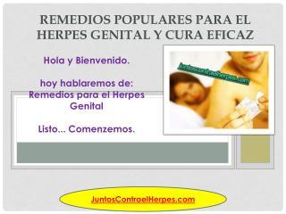 Remedios populares para el herpes genital y cura eficaz