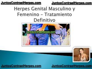 Herpes genital masculino y femenino tratamiento definitivo