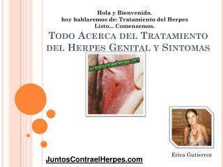 Todo acerca del tratamiento del herpes genital y sintomas