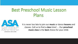 Best Preschool Music Lesson Plans