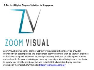 A Perfect Digital Display Solution in Singapore