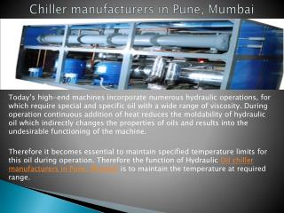 Best Chiller manufacturers in Pune, Mumbai