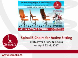 Chairs for Active Sitting at BC Physio Forum & Gala on April 22nd, 2017
