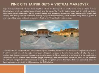 Pink city Jaipur gets a Virtual makeover