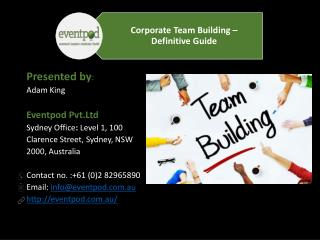 Corporate Team Building - Definitive Guide