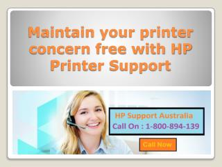 Maintain your printer concern free with HP Printer Support