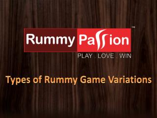 Types of Rummy Game Variations