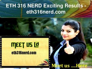 ETH 316 NERD Exciting Results / eth316nerd.com