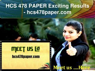 HCS 478 PAPER Exciting Results / hcs478paper.com