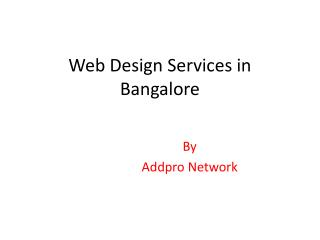 Web Design Services in Bangalore
