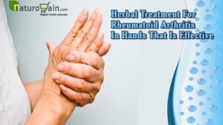 Herbal Treatment For Rheumatoid Arthritis In Hands That Is Effective