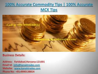 100% Accurate Mcx Tips | 100% Accurate Commodity Tips