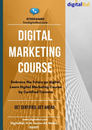 Are your searching for a Digital Marketing Course in Noida & Ghaziabad?