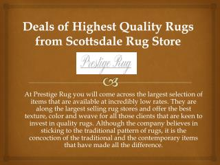 Deals of Quality Rugs from Scottsdale Rug Store