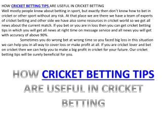 100% working cricket betting tips on freecricketbettingtips.co.in