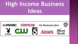 High Income Business Ideas