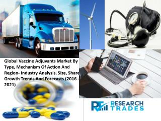 Vaccine Adjuvants  Market Is Set To Garner Staggering Revenues By 2021