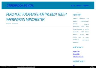Making The Best Smile With Teeth Whitening In Manchester