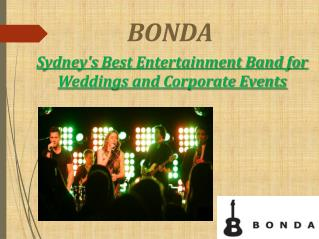Sydney's Best Entertainment Band for Weddings and Corporate Events