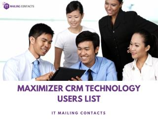 Maximizer CRM Technology Users List