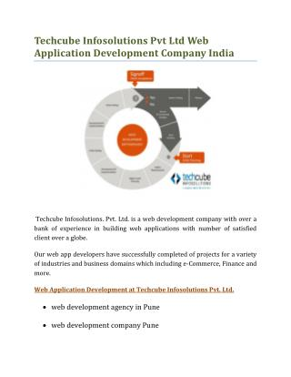 Techcube Infosolutions Web Application Development India