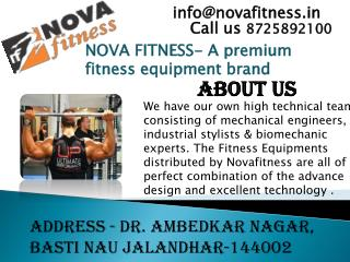Nova Fitness Leading Fitness Equipment Manufacturer in India