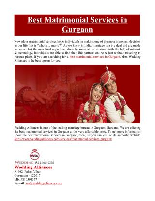 Best Matrimonial Services in Gurgaon