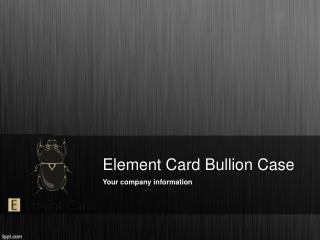 Best Valcambi Element Card