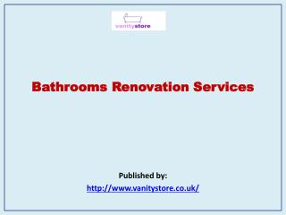 Bathrooms Renovation Services