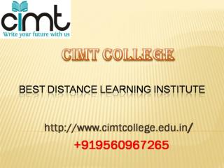Best Correspondence/Distance Learning Institute, Distance MBA Noida.