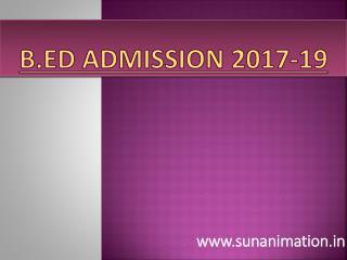 B.ED Admission 2017 SUN Animation