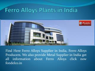 Ferro Alloys Supplier in India