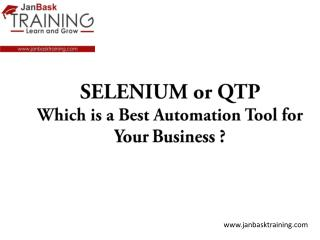 SELENIUM or QTP Which is a Best Automation Tool for Your Business ?
