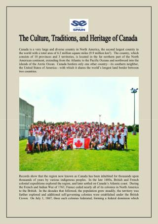 The Culture, Traditions, and Heritage of Canada