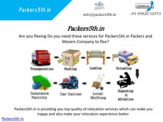 Packers5th Quality Transfer Services of these Packers and Movers