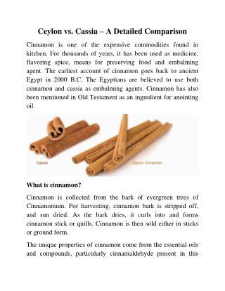 Ceylon vs. Cassia – A Detailed Comparison