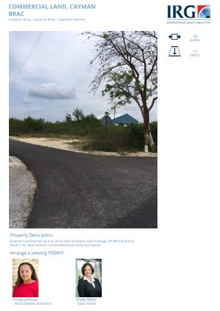 Cayman Brac Commercial Land Property For sale by IRG Cayman