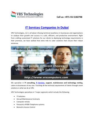 IT Services Companies in Dubai