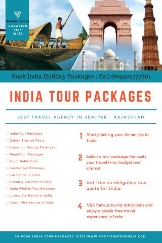 Custom-made holiday pacakges from Vacation Trip India