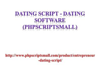 Dating Script - Dating software (phpscriptsmall)