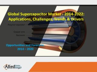 Global Supercapacitor Market - 2014-2022: Applications, Challenges, Trends & Drivers