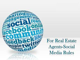 For Real Estate Agents – Social Media Rules|Zack Childress